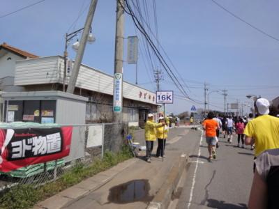かすみがうらマラソン2010、16K地点