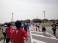 かすみがうらマラソン2010、折り返し地点のランナー