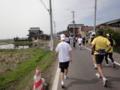 かすみがうらマラソン2010、32K地点