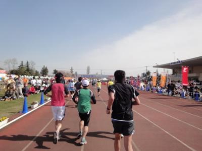 かすみがうらマラソン2010、フィニッシュ直前
