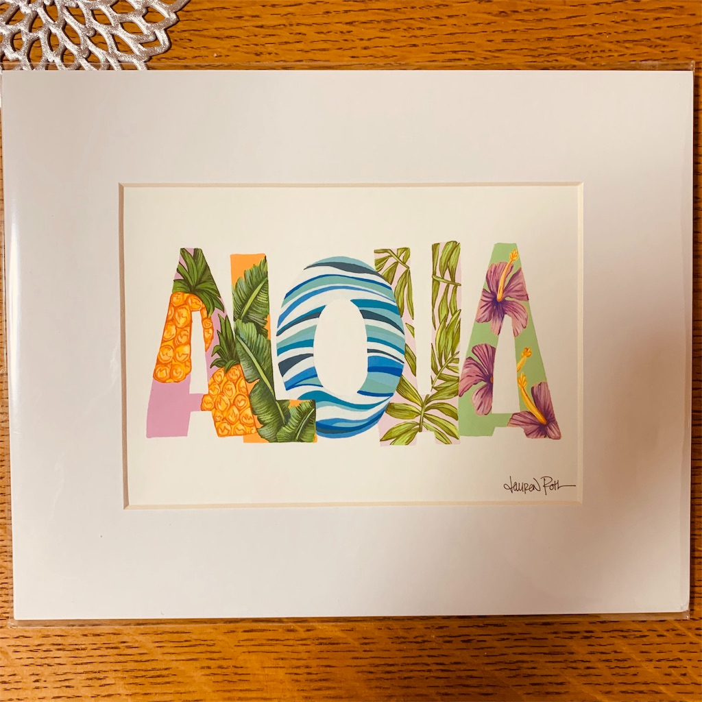 ハワイ アート イラスト おしゃれ 可愛い 人気 ALOHA HAWAII