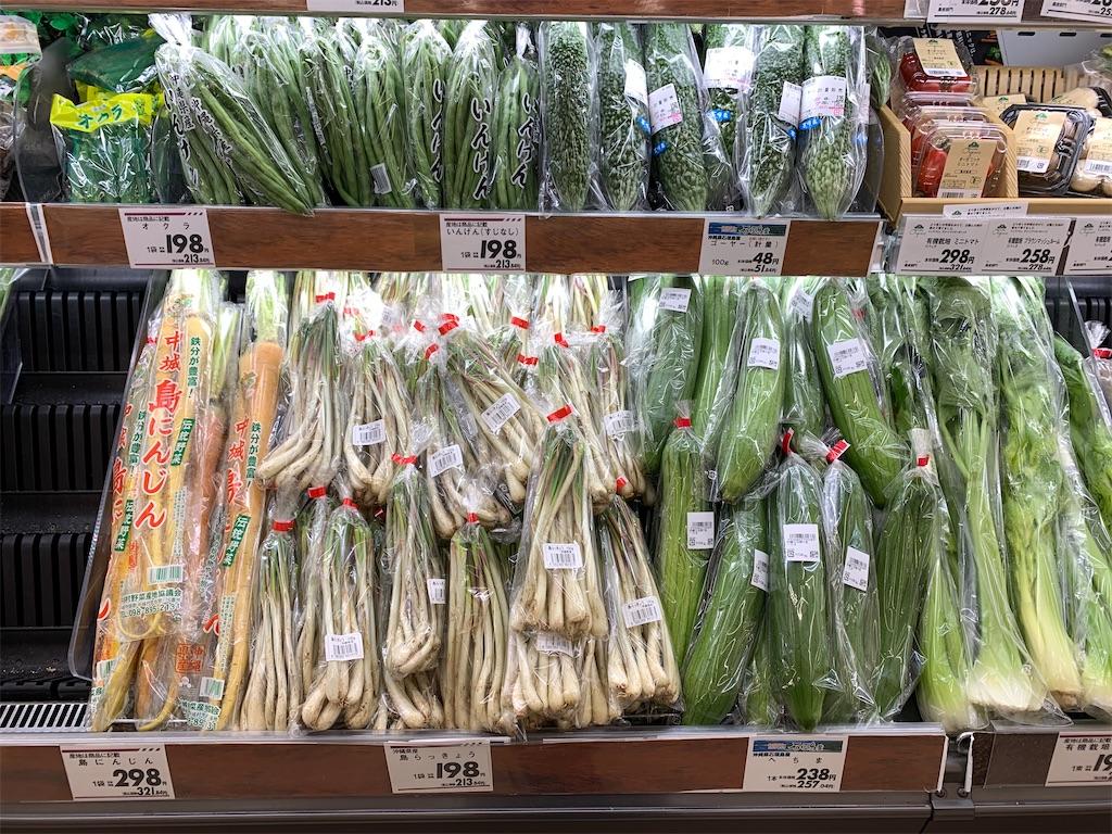 沖縄 スーパーマーケット 島らっきょう パパイヤ