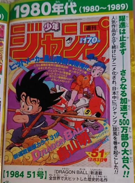 1984年51号ドラゴンボール連載開始した表紙