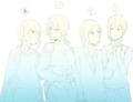 希美ちゃんと清姫ちゃんと桃八とラビア