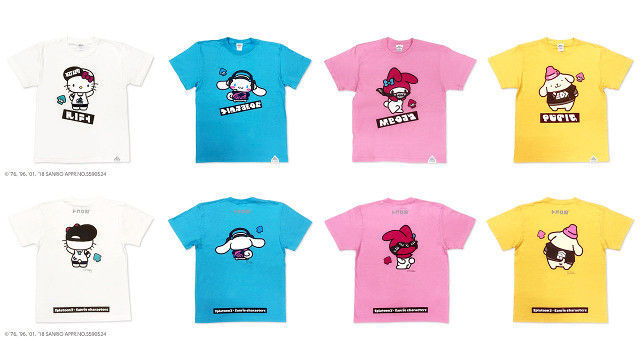 スプラトゥーン2とサンリオのコラボTシャツ