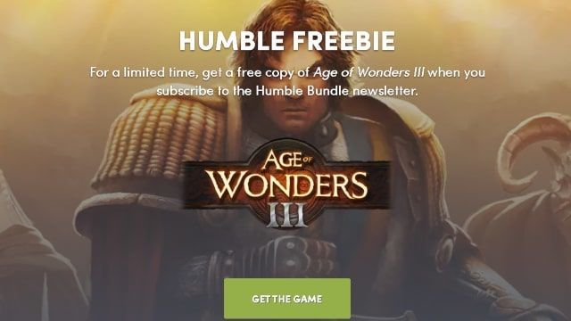 Humble Free Age of Wonders III