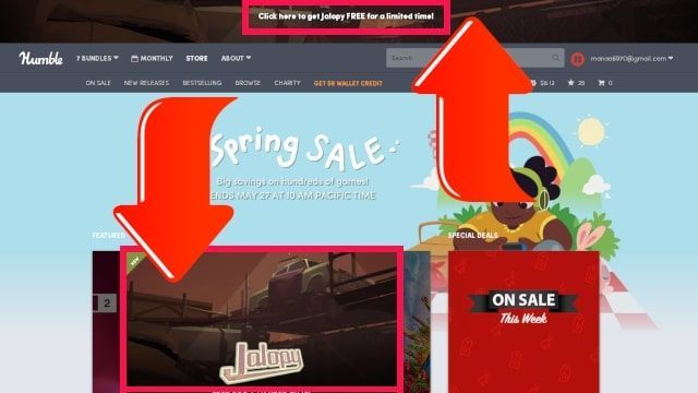 Humble sprinf sale