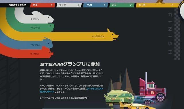 Steamグランプリ・サマーセール