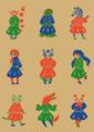 成安技芸制服プロジェクト展覧会で展示したイラスト。活版印刷