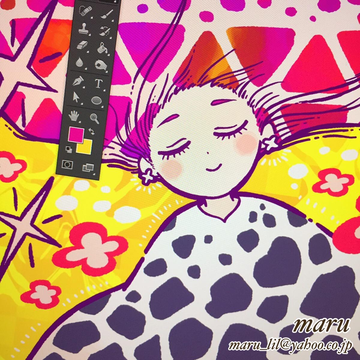 展示会,ACC2019,女の子イラスト,絵本タッチ