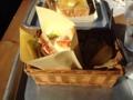 チキンと人参のマリネのサンドイッチ