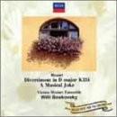 モーツァルト:ディヴェルティメント第17番/音楽の冗談