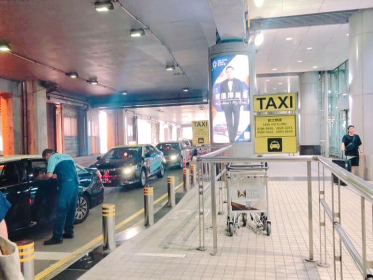 マカオ空港 タクシー