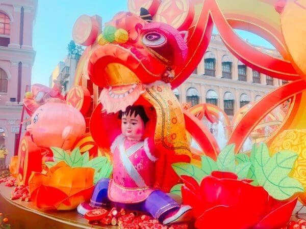 マカオ 春節 セナド広場