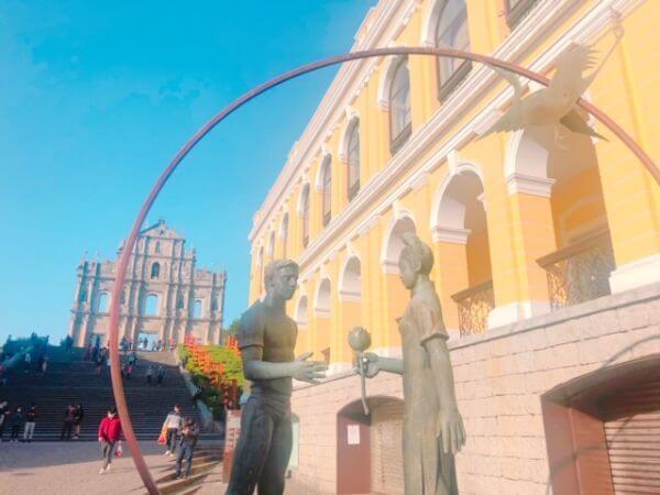 マカオ イエズス会紀念広場