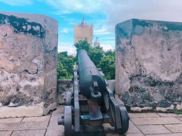 マカオ 世界遺産 モンテの砦 大砲