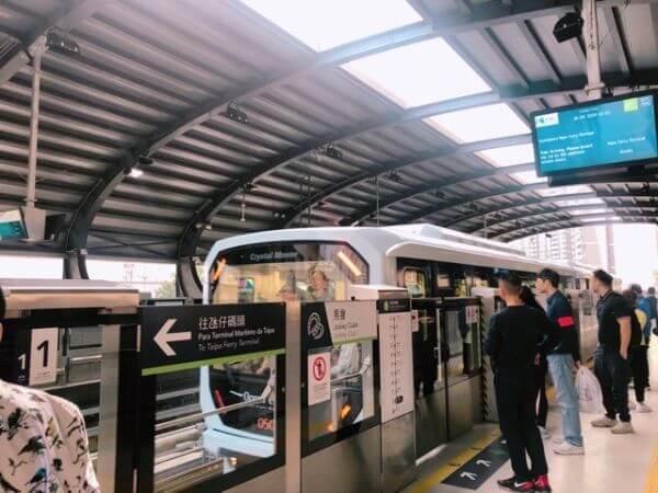マカオ LRT 鉄道