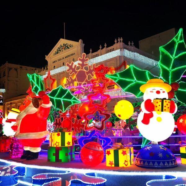 マカオ クリスマス ライトアップ