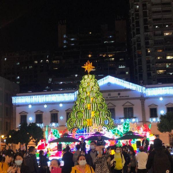 マカオ クリスマス イルミネーション