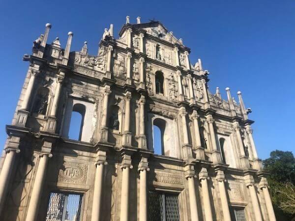マカオ 世界遺産 聖ポール天主堂