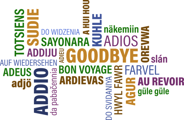 Goodbyes in many languages