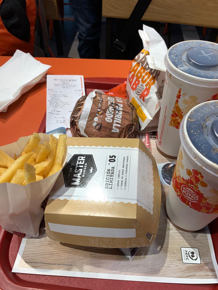 BCN, Barcelona Airport, Burger King