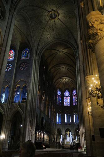 ノートルダム大聖堂の天井