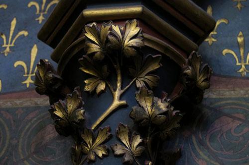 サント・シャペルの柱の装飾