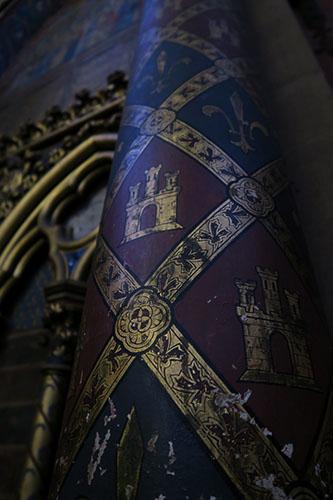 サント・シャペルの柱に描かれた文様