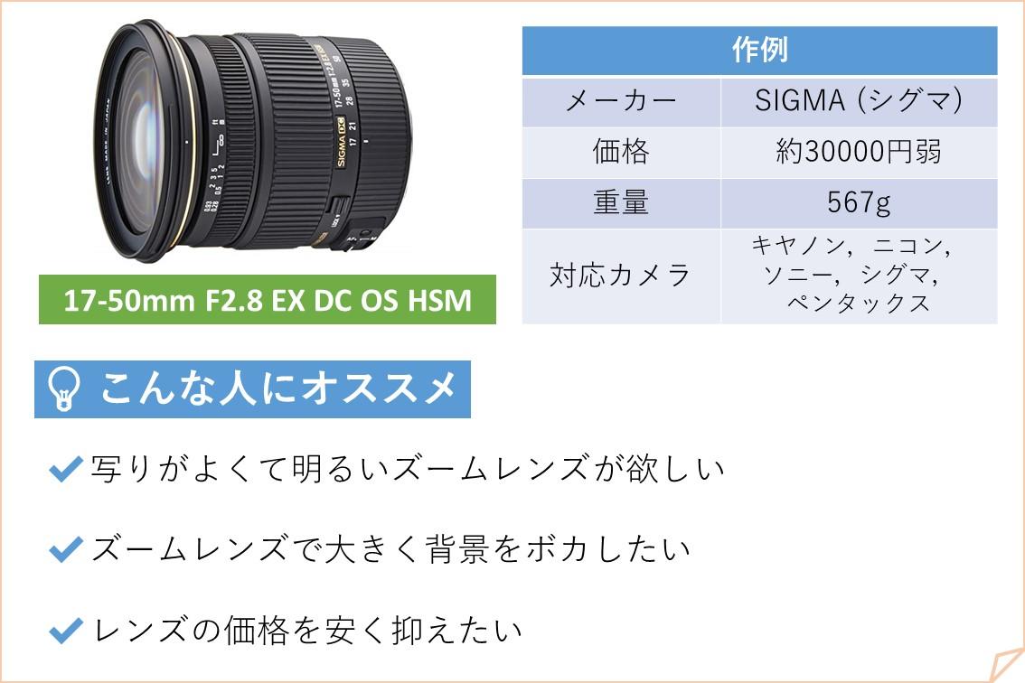 17-50mm F2.8 EX DC OS HSM SIGMA シグマ