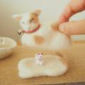 [羊毛フェルトうさぎ][羊毛フェルトアルパカ][羊毛フェルトインコ][羊毛フェルト文鳥]羊毛フェルトねこ