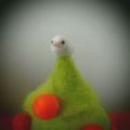 [羊毛フェルトうさぎ][羊毛フェルトアルパカ][羊毛フェルトインコ][羊毛フェルト文鳥]クリスマスツリー