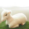 [羊毛フェルトうさぎ][羊毛フェルトアルパカ][羊毛フェルトインコ][羊毛フェルト文鳥]やぎ