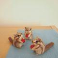 [羊毛フェルトうさぎ][羊毛フェルトアルパカ][羊毛フェルトインコ][羊毛フェルト文鳥]りす