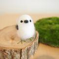 [羊毛フェルトうさぎ][羊毛フェルトアルパカ][羊毛フェルトインコ]シマエナガ