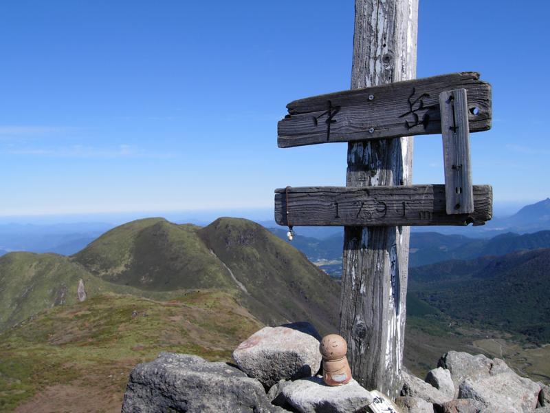 九州本土最高峰からの眺めの画像