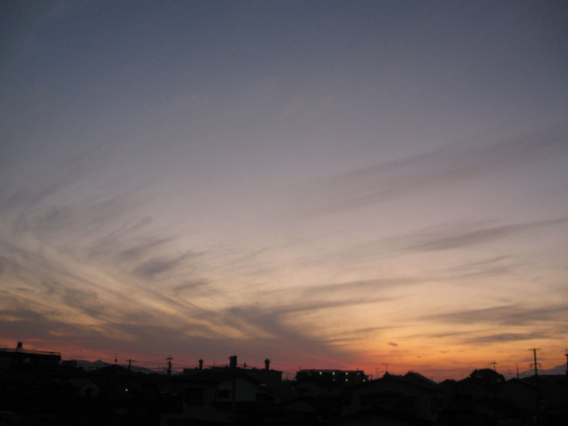 夕暮れの画像