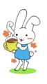 お花摘みウサギ①