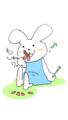 お花摘みウサギ②