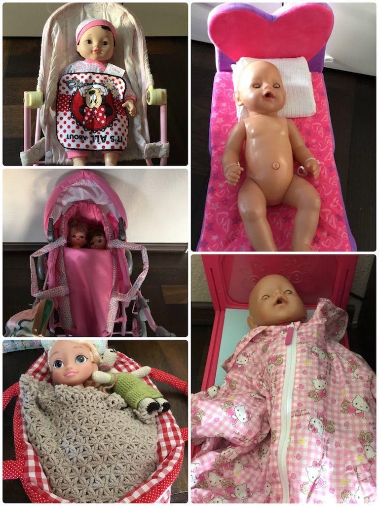 お世話人形のお布団セット。着物リメイクで簡単手作り
