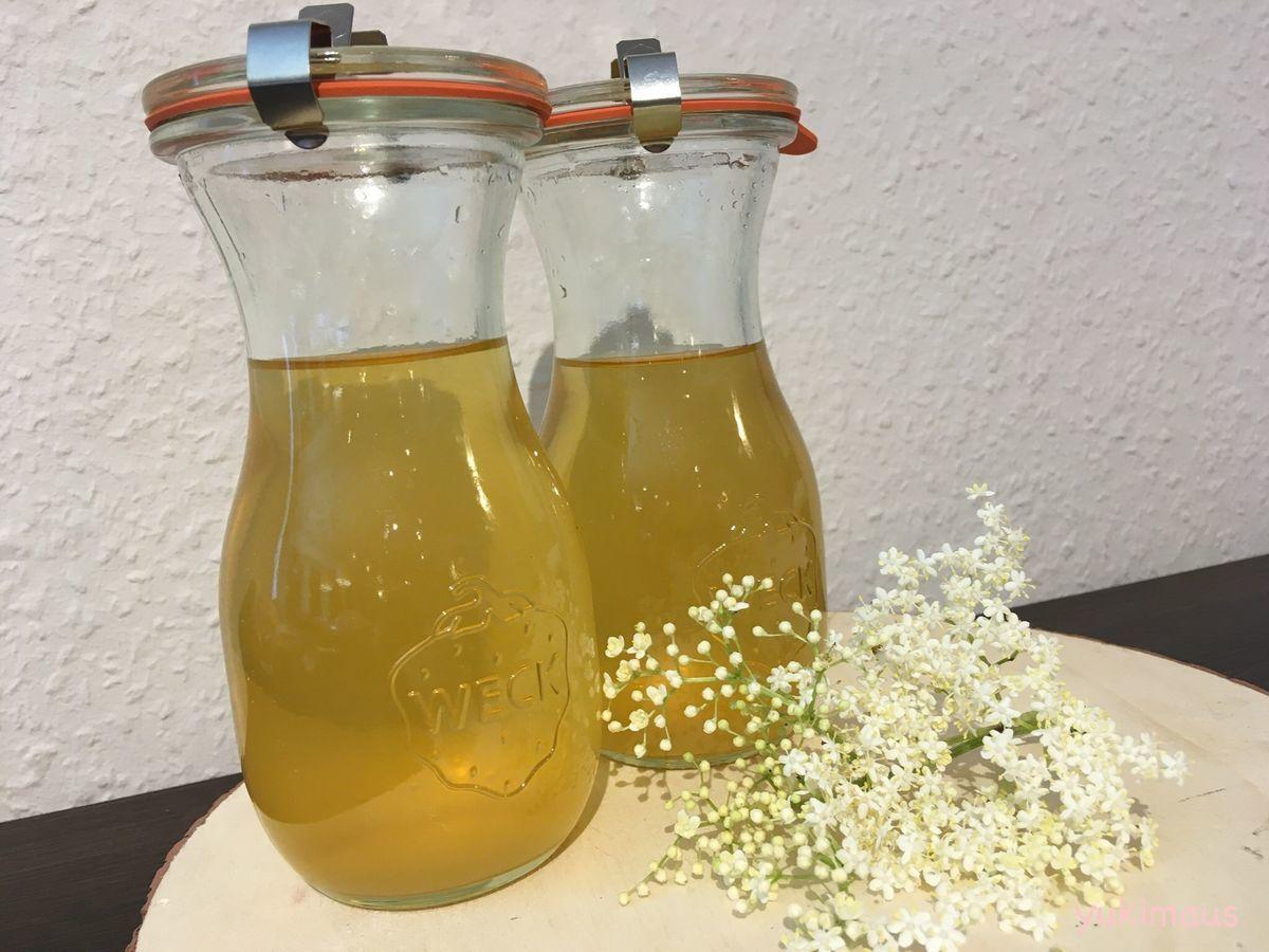 白砂糖不使用 アガベシロップでホルンダーブリューテンシロップ