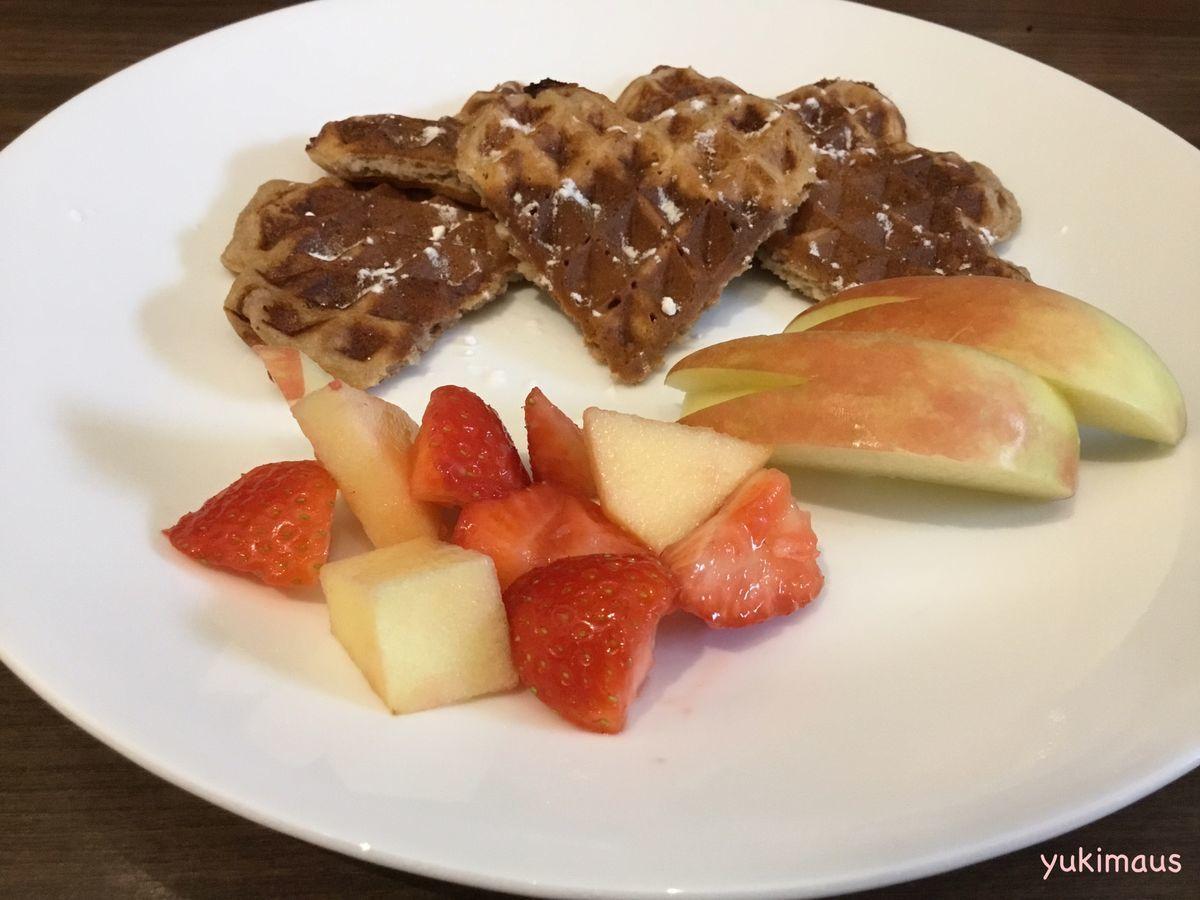 白砂糖不使用レシピ りんご風味のアメリカンワッフル