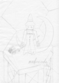 [お絵かき][黒魔][お絵かき第一弾icon][ダークローブ]最初はこんな感じ。あとあといじってより良くしてきますんで