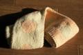 リバーシブル編みのマフラー