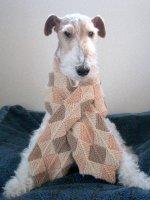 ドミノ編みマフラー