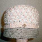 ダイヤ柄帽子