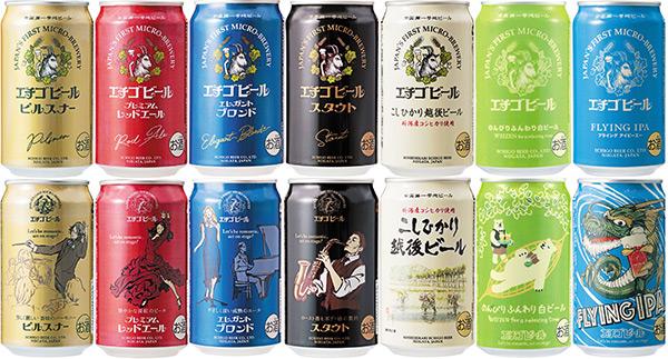 エチゴビール 一新されたデザイン