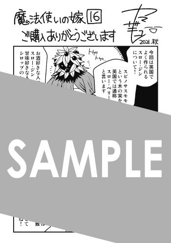 『魔法使いの嫁』第16巻 メッセージペーパー(描き下ろし)
