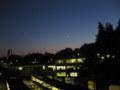 夕暮に浮かぶ三日月と金星