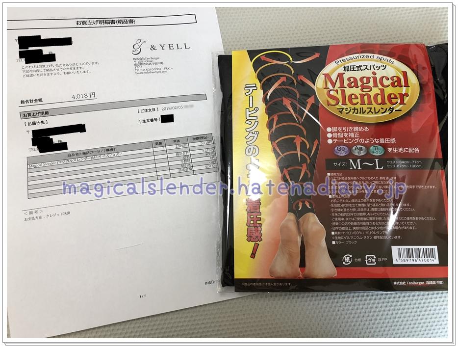 マジカルスレンダーの届いた写真